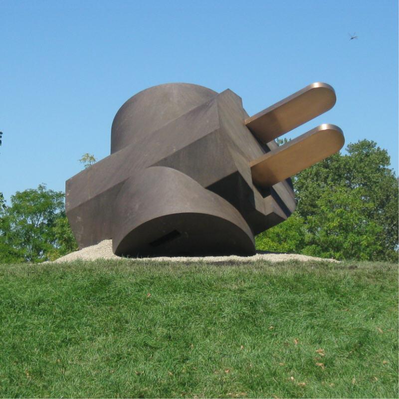 Philadelphia Public Art: Giant Three-Way Plug, Scale A
